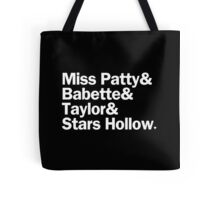 Gilmore Girls - Miss Patty & Babette & Taylor & Stars Hollow | Black Tote Bag