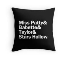 Gilmore Girls - Miss Patty & Babette & Taylor & Stars Hollow | Black Throw Pillow