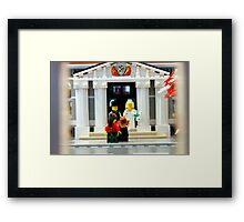Lego Wedding  Framed Print