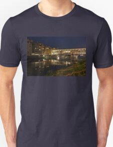 Florence, Italy Night Magic - A Glamorous Evening at Ponte Vecchio  Unisex T-Shirt