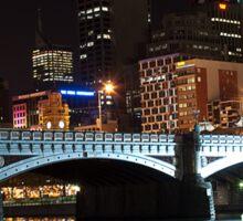 Melbourne at night 07 [r] Sticker