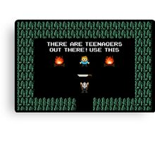 JASON VOORHEES 8-BIT TEENAGERS FRIDAY THE 13TH Canvas Print