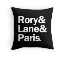 Gilmore Girls - Rory & Paris & Lane | Black Throw Pillow