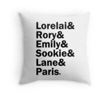 Gilmore Girls - Lorelai & Rory & Emily & Sookie & Paris | White Throw Pillow