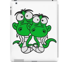 friends team papa child son family couple cartoon comic funny humorous 2 snakes cool iPad Case/Skin