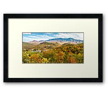 Chimney Tops Panorama  Framed Print