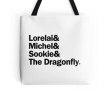 Gilmore Girls - Lorelai & Michel & Sookie & The Dragonfly | White Tote Bag