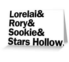 Gilmore Girls - Lorelai & Rory & Sookie & Stars Hollow   White Greeting Card