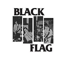 BLACK FLAG - 4 Bar Logo Live Band Montage Photographic Print