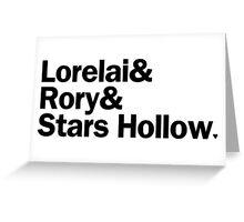 Gilmore Girls - Lorelai & Rory & Stars Hollow   White Greeting Card