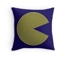 Striped PacMan Throw Pillow