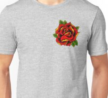 Neotraditional Rose in Red Unisex T-Shirt