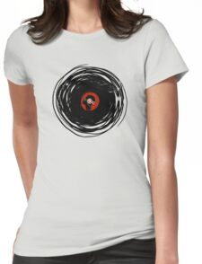 I'm spinning within with a vinyl record... GRUNGE TEXTURE Womens Fitted T-Shirt