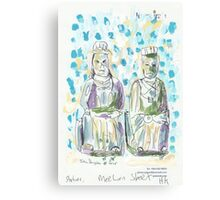 Two Statues in Mee Lun Street Canvas Print