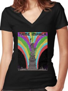 tame impala poster Women's Fitted V-Neck T-Shirt