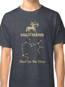 Sagitarius Quotes - Shoot For The Stars Classic T-Shirt