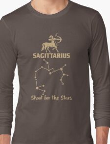 Sagitarius Quotes - Shoot For The Stars Long Sleeve T-Shirt