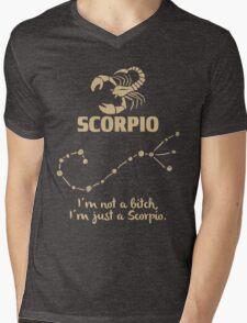 Scorpio Quotes - I'm Not A Bitch I'm Just A Scorpio Mens V-Neck T-Shirt