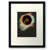 Vinyl Record Retro T-Shirt - Vinyl Records New Grunge Design Framed Print