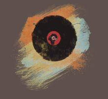Vinyl Record Retro T-Shirt - Vinyl Records New Grunge Design One Piece - Short Sleeve