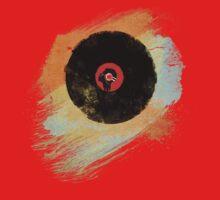 Vinyl Record Retro T-Shirt - Vinyl Records New Grunge Design Baby Tee