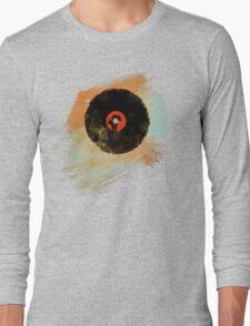Vinyl Record Retro T-Shirt - Vinyl Records New Grunge Design Long Sleeve T-Shirt