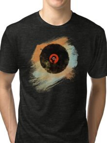 Vinyl Record Retro T-Shirt - Vinyl Records New Grunge Design Tri-blend T-Shirt