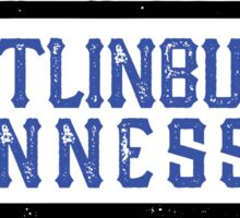 GATLINBURG TENNESSEE GREAT SMOKY MOUNTAINS SMOKIES GRUNGE RECTANGLE Sticker