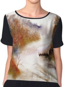 Landscape..Winter Walk Chiffon Top