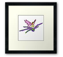 Dragonfly Riding Faerie Framed Print