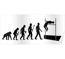 Funny High Jump Evolution  Poster