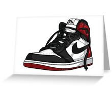"Air Jordan 1 ""BLACK TOE"" Greeting Card"