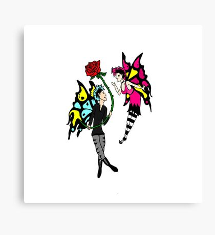 Goth Faeries in Love Canvas Print
