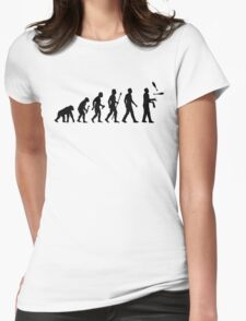 Funny Juggling Evolution Shirt Womens Fitted T-Shirt