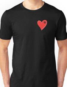 VW Large love heart/VW logo  Unisex T-Shirt