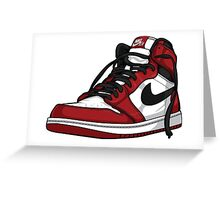 "Air Jordan 1 ""CHICAGO"" Greeting Card"
