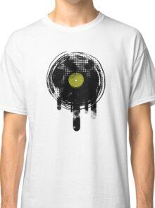 Green Melting Vinyl Records Vintage  Classic T-Shirt