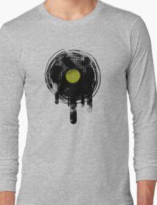 Green Melting Vinyl Records Vintage  Long Sleeve T-Shirt