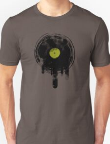 Green Melting Vinyl Records Vintage  Unisex T-Shirt