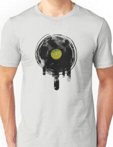 Green Melting Vinyl Records Vintage  T-Shirt