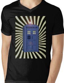 TARDIS CLASSIC VORTEX 1 Mens V-Neck T-Shirt