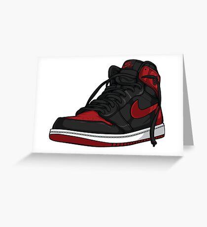 """Air Jordan 1 """"BRED"""" Greeting Card"""
