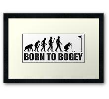 Born To Bogey Funny Golf Evolution Putting Framed Print