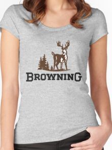 Browning Firearms Logo Women's Fitted Scoop T-Shirt