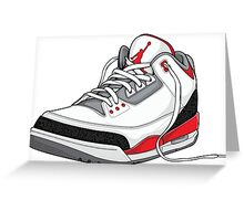 "Air Jordan 3 (III) ""FIRE RED"" Greeting Card"
