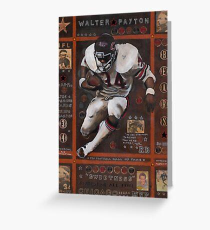 Walter Payton Greeting Card