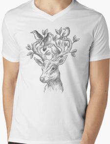 Graceful Deer Mens V-Neck T-Shirt