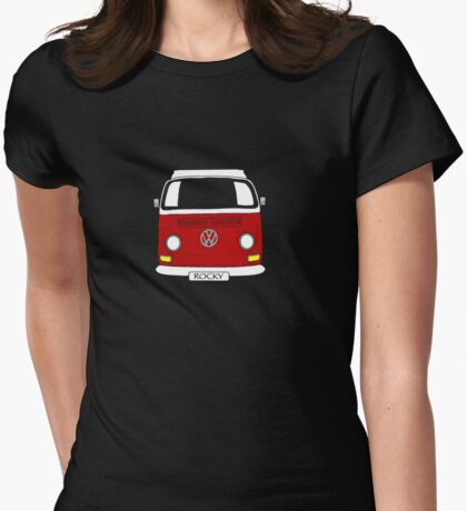 ROCKY the VW Kombi Womens Fitted T-Shirt