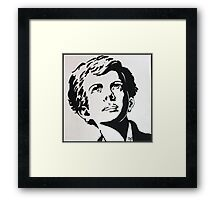 Boy in black and white Framed Print