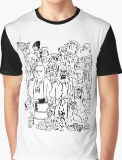 BB Black and White Cartoon Graphic T-Shirt
